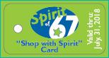 Shop with Spirit Keytag